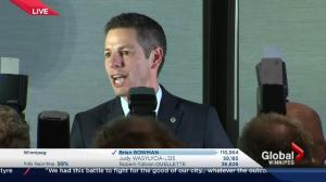 Winnipeg Votes: Brian Bowman victory speech