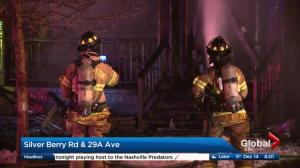 Early morning house fire in southeast Edmonton's Silver Berry area