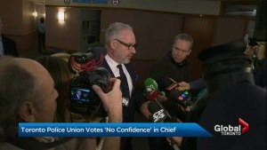Majority of Toronto police union members polled vote 'no confidence' in Chief