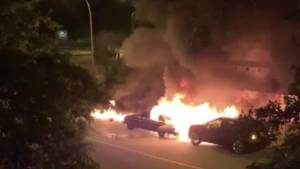 Viewer video captures early morning Port Coquitlam car fires