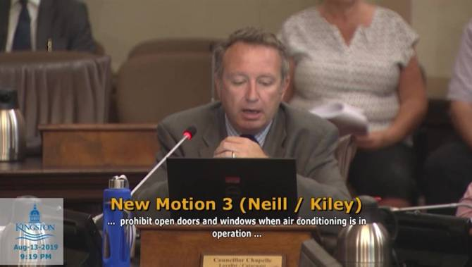 Kingston council debate over AC in businesses gets heated