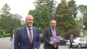 NDP and Greens leaders submit their agreement to Government House