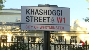 Activists rename London Saudi embassy road 'Khashoggi Street'