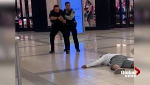 WATCH: Burnaby RCMP arrest man at Metrotown Mall