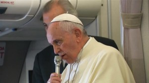 RAW: Pope Francis on freedom of expression and contraception