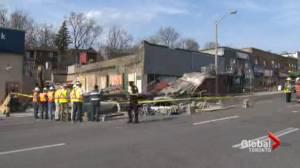 Seven hurt after Bathurst and Eglinton building collapse