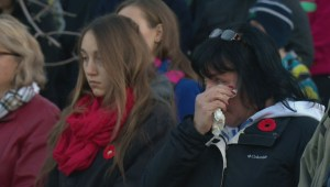 Canada Remembers: Sunrise ceremony at Calgary's Field of Crosses