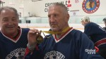 Calgary seniors team celebrates national hockey championship, shares tips with young players