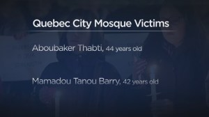 Quebec City mosque shooting victims identified