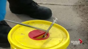 First responders facing dangers from discarded needles