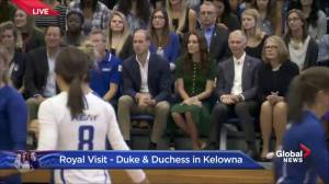 Prince William and Kate watch volleyball exhibition at UBC Okanagan