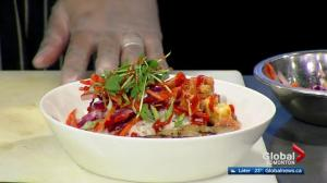 Ono Poke makes surf and turf salad in the Global Edmonton Kitchen (2/3)