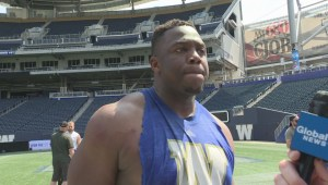RAW: Blue Bombers Faith Ekakitie Interview