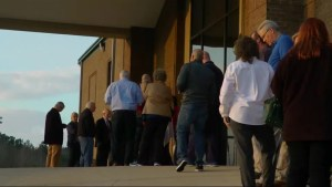 U.S. voters flock to the polls to cast Super Tuesday ballots