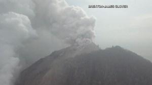 Papua New Guinea volcano erupts