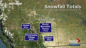 Southern Alberta pummeled with snow on Tuesday