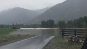 The Similkameen River rages near Cawston