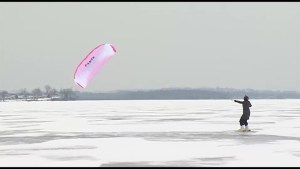 Have you heard of Snowkiting?