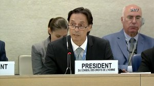 President of UN Human Rights Council reacts to U.S. withdrawal