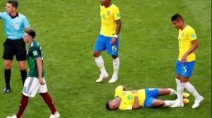 Neymar's antics on the pitch