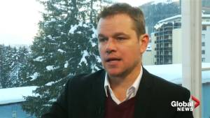 Matt Damon comes to Davos to drum up support for clean water charity
