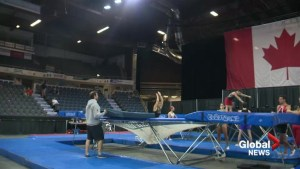Hundreds of gymnasts leap into Lethbridge for Canadian trampoline championships