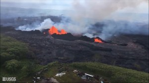 Aerial video shows lava shooting 160 feet into the air from Hawaii fissure