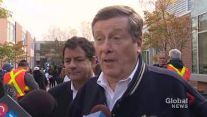John Tory says campaign messages landing with voters