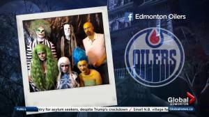 Edmonton Oilers players transformed for Halloween party