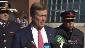 Toronto mayor speaks about van incident, expresses condolences for victims