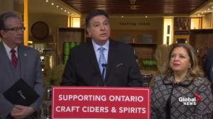 Ontario dedicates $4.9M to help cider makers get products to customers