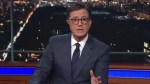 Colbert challenges Trump to show courage, tackle gun control