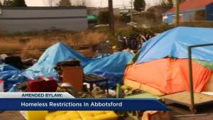 Abbotsford mayor reacts to new bylaw changes restricting homeless in parks
