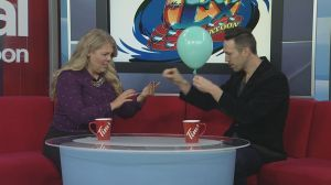 Illusionist Jason Andrews performing at Saskatoon Ex