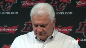 Emotional Wally Buono talks about his legacy at final end-of-season interview