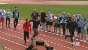 Will, Kate and Harry race each other for charity
