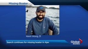 Search for missing boater in Ajax continues