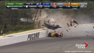 IndyCar race halted after scary crash involving Canadian Robert Wickens