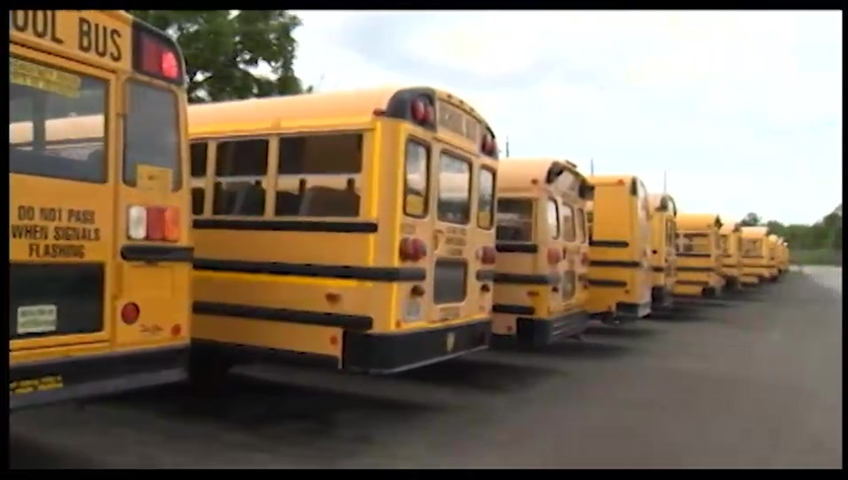 Caught on Cam: Semi vs. School Bus