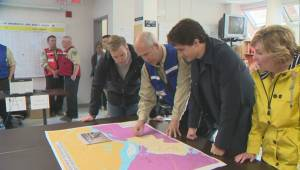 Justin Trudeau tours flood-stricken New Brunswick communities