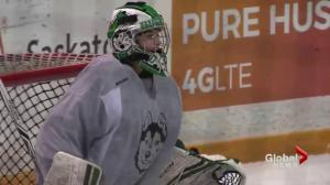 Patience pays off for Saskatchewan Huskies goalie