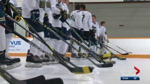 Humboldt Broncos honoured through charity hockey tourney in St. Albert