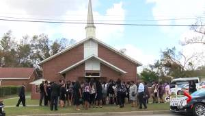Funeral held for North Carolina mother and child killed in Hurricane Florence