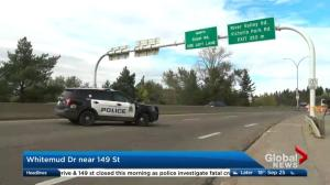 Deadly collision on Whitemud Drive