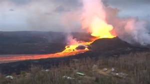 New aerial footage of Kilauea volcano released as lava flow hits 45 days