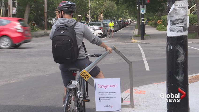 Foot rests for cyclists may soon be all over Rosemont - Montreal ...