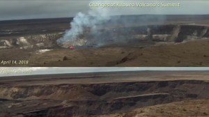 Time-lapse shows changes to Kilauea volcano over five months