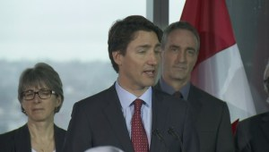 Prime Minister Justin Trudeau addresses the Quebec government's Energy East injunction