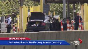 Bizarre incident involving police at Canadian border crossing