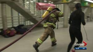 University of Alberta fitness session aims to show what it takes to be a firefighter